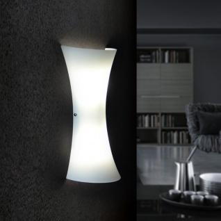 Licht-Trend Aira Glas-Wandleuchte Opalweiss Wandlampe