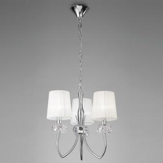 Mantra Loewe 3-flammige Pendelleuchte mit 3 Lampenschirmen