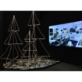 LED Schlauchsilhoutte Tannenbaum 3D groß 432 Warmweiße Dioden 24V Außentrafo