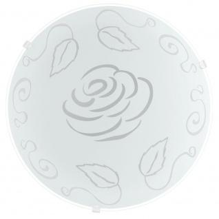 Eglo 89238 Mars 1 Wand- & Deckenleuchte Ø 24, 5cm Motiv Rose Weiß