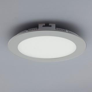 Licht-Design 30563 Einbau LED-Panel 960lm Dimmbar Ø 17cm Kalt Silber