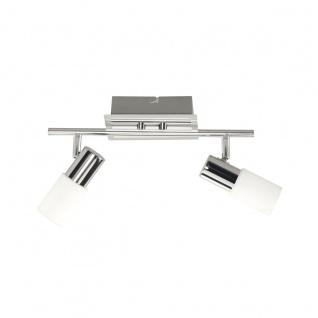 Wofi Bas LED Deckenbalken 2-flammig Nickel matt Chrom Strahler Spots