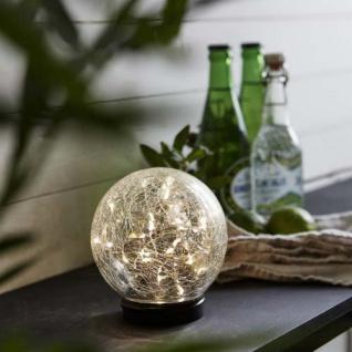 Premium LED Solarkugel aus echten Glas Ø 12cm Solar Gartenlampe Gartenleuchte