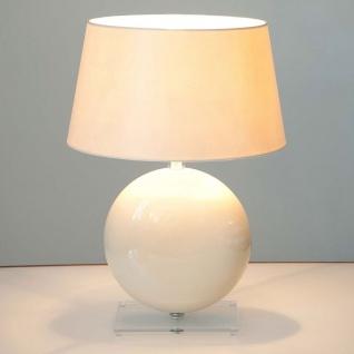 Holländer 039 K 1261 Tischleuchte Billiardo Keramik-Plexiglas Creme-Klar