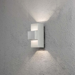 Konstsmide 7934-310 Imola LED Aussen-Wandleuchte Style Design Grau opales Acrylglas