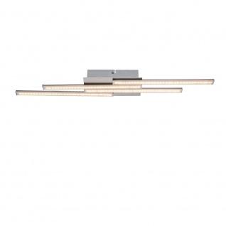 Artax Deckenleuchte LED länglich 4 Arme versetzt 1120lm Nickel-Matt Acryl Satiniert