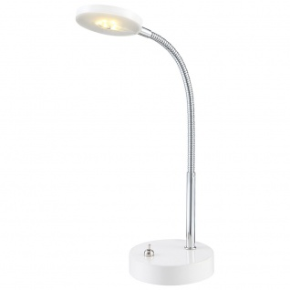 Globo 24123 Deniz Tischleuchte Weiß Chrom LED