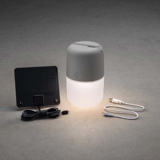 LED Solarleuchte Assisi zum Hängen oder Hinstellen Grau Solar Gartenlampe Gartenleuchte - Vorschau 4