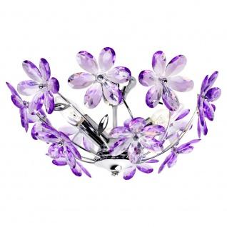 Deckenleuchte mit Lila Acrylblüten Ø42cm Deckenlampe