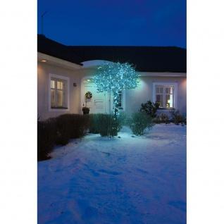 Micro LED Lichterkette 40 hell blaue Dioden 24V Außentrafo