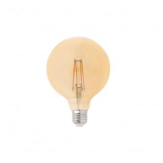 E27 Globe Filament LED Amber 5W 2200K Dimmbar