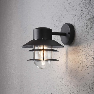 Konstsmide 7310-750 Modena Aussen-Wandleuchte Schwarz klares Glas