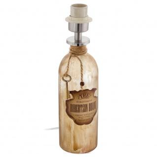 """Eglo 49603 Mojada 1 Vintage Tischlampe ,, Whiskey Flasche"""" (ohne Schirm) Braun-Patina"""
