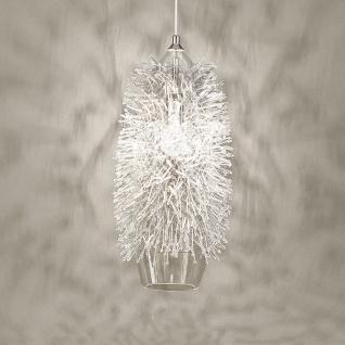 Terzani Sea Urchin Hängeleuchte H.42 Nickel Silber Swarovski Hängelampe
