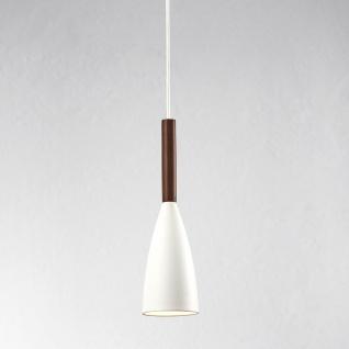 Licht-Trend Balanda Hängeleuchte Ø 10cm mit Holz weiss