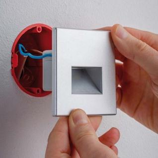 Licht-Trend LED Wandeinbauleuchte Box 116lm Alu-Matt inkl. Leuchtmittel