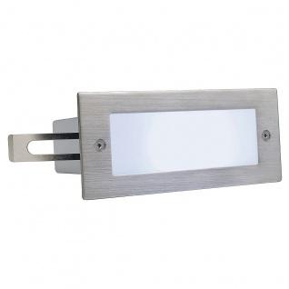 SLV Brick LED 16 Edelstahl 304 Wandleuchte gebürstet 1W weiss IP44 230231