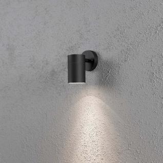 Konstsmide 7657-750 Modena Aussen-Wandleuchte Schwarz klares Glas Reflektor