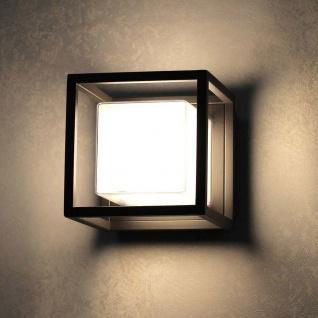 s.LUCE Cube LED-Aussenleuchte 15cm für Wand oder Decke 10W Schwarz