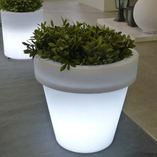 Licht-Trend Magnolia Mega Blumentopf mit Akku und LED-Beleuchtung