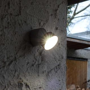 Lutec Trumpet L 90° schwenkbare LED-Außenwandleuchte IP54 Anthrazit