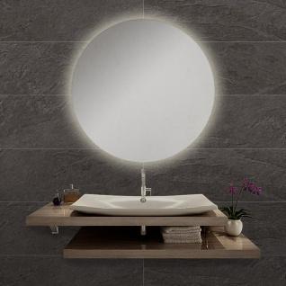LED Bad Spiegel Diann L Ø 60cm mit Hintergrundbeleuchtung