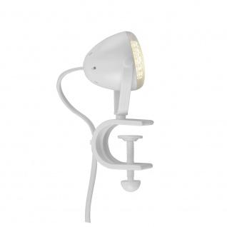 LeuchtenDirekt 13073-16 Podgy Klemmleuchte Weiß LED
