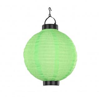 LED Solarleuchte Lampion Ø 25cm Grün Solar Gartenlampe Gartenleuchte