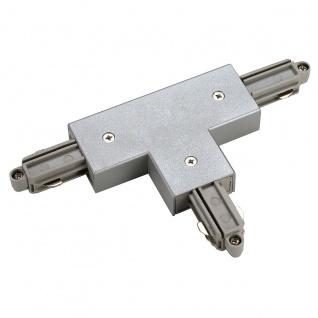 SLV T-Verbinder für 1-Phasen HV-Stromschiene Aufbauversion silbergrau Erde Rechts 143082