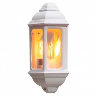 Konstsmide 7011-250 Cagliari Aussen-Wandleuchte Weiß klares Glas