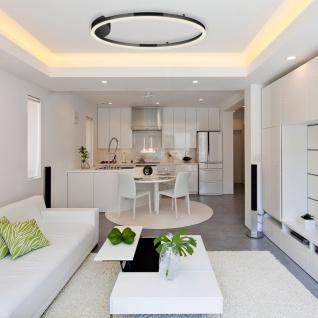s.LUCE Ring 60 LED Wand & Deckenleuchte Dimmbar Wohnzimmer Ring Wandlampe Deckenlampe