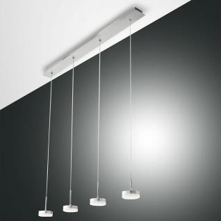 Fabas Luce 3239-49-212 Dunk LED Pendelleuchte dimmbar 2800lm Alu-Gebürstet