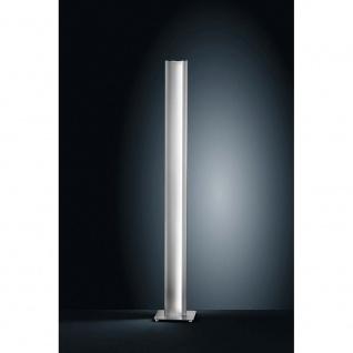 Helestra LED Stehleuchte Kurvo 155cm Nickel-Matt Chrom