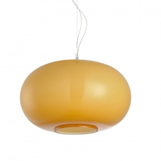 s.LUCE Blob L Opalglas Hängeleuchte Ø 45cm Orange