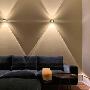 s.LUCE Beam Wandleuchte Up&Down mit Glaslinsen Effekt Wandlampe Alu-Gebürstet