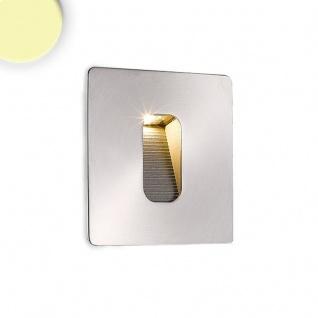 LED Wandeinbauleuchte eckig 3W Edelstahl Warmweiß IP65