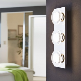 Eglo 94485 Cisterno LED Wand & Deckenleuchte 3 x 45 W Edelstahl Chrom Kunststoff klar satin