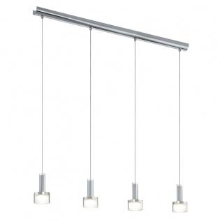 Eglo 93929 Fabiana 1 LED Hängeleuchte 4 x 33 W Stahl Chrom Glas klar satiniert