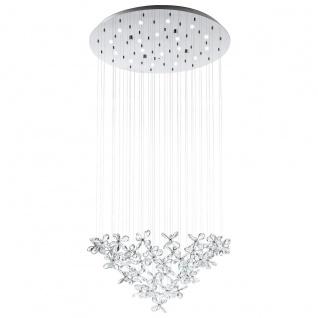 Saraceno Kristall LED Hängeleuchte chrom 18 x 2, 4W Hängelampe