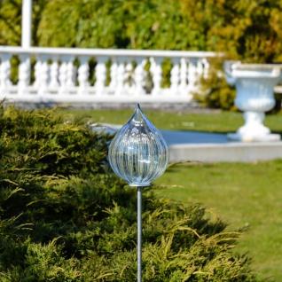Mundgeblasene glas fackel 115cm mit erdspiess klar garten - Glas deko garten ...