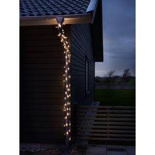 LED Globelichterkette runde Dioden 160 Warmweiße Dioden 24V Außentrafo
