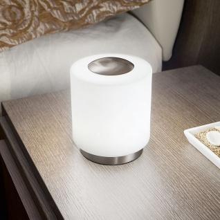 Fabas Luce 3257-30-178 Simi LED Tischleuchte mit Touchdimmer 700lm Nickel-Satiniert
