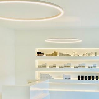 s.LUCE Ring L indirekt leuchtende LED Wandleuchte 65cm Weiß