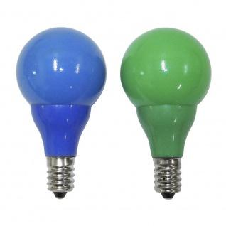 LED Birne für Biergartenketten 2er-Blister 3 blaue 3 grüne Dioden 31V E10 Schraubgewinde