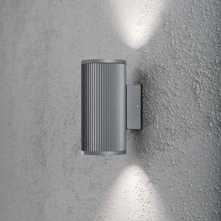 Konstsmide 7514-300 Siracusa Aussen-Wandleuchte mit Halogen Leuchtmittel Grau klares Glas Reflektor