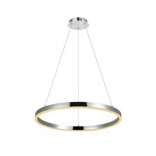 s.LUCE pro LED-Hängelampe Ring M Dimmbar Ø 60cm in Chrom Wohnzimmer Ring - Vorschau 2