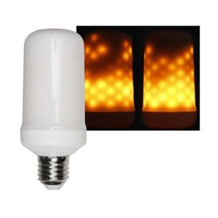 E27 Flammen-LED Kerzenähnlich 3 Modi 5W Warmweiß Flackermodus