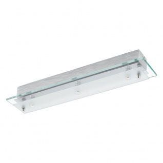 Eglo 93886 Fres 2 LED Wand- & Deckenleuchte 3-flammig Klar Weiß Chrom