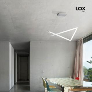 Grossmann 88-768-072 Lox LED-Pendelleuchte extravagant 5440lm Alu-matt
