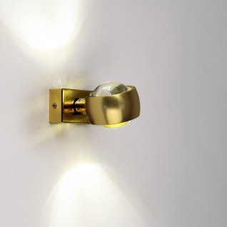 s.LUCE Beam Wandleuchte Up&Down mit Glaslinsen Wandlampe Gold